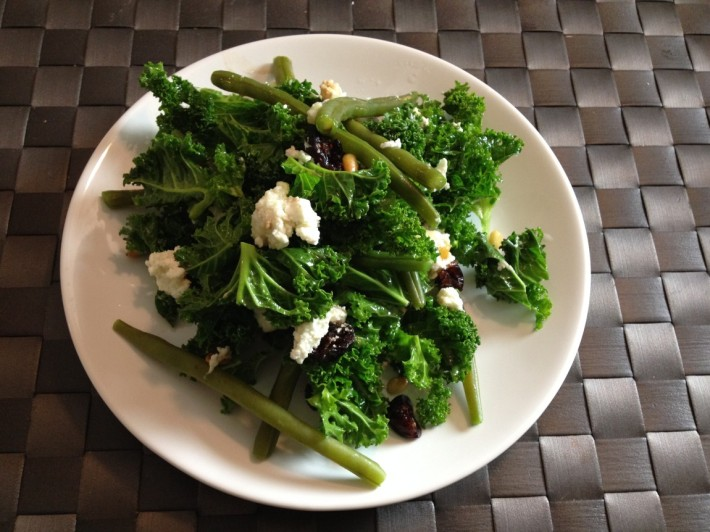 kale goat cheese salad 3